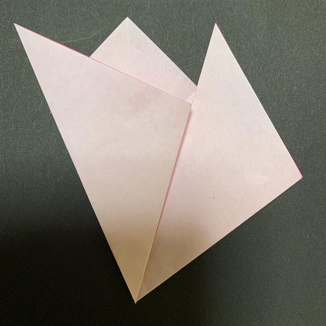 折り紙コースター(桜):折り方作り方 (12)