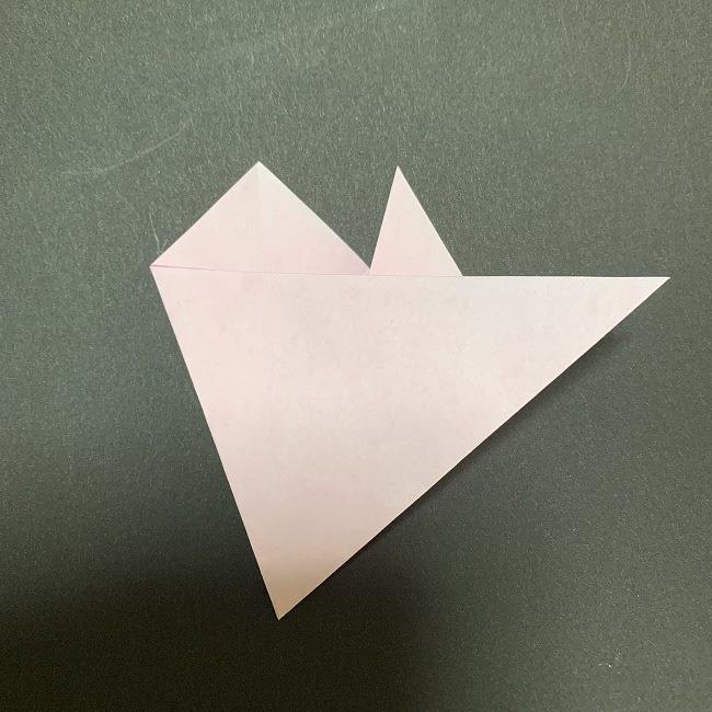 折り紙コースター(桜):折り方作り方 (10)