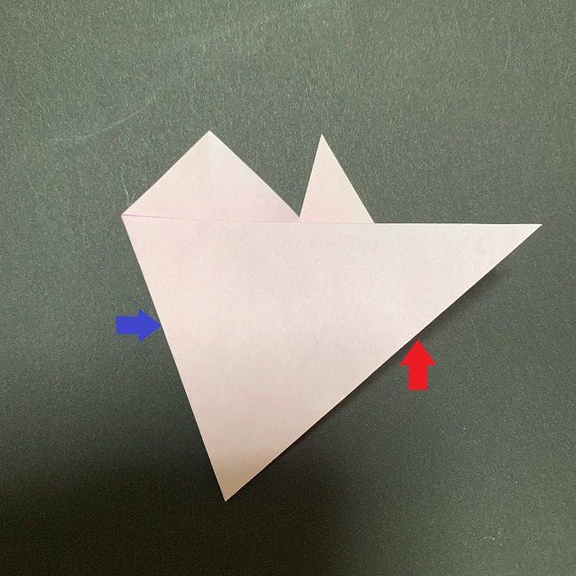 折り紙コースター(桜):折り方作り方 (11)