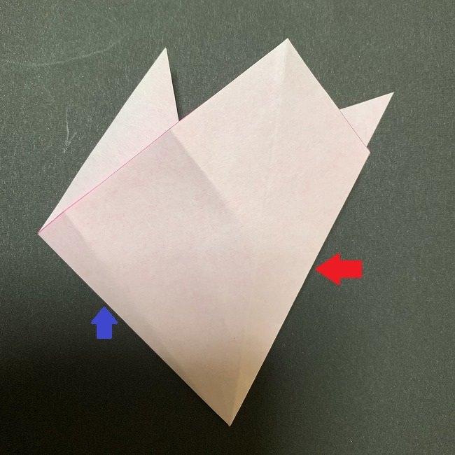 折り紙コースター(桜):折り方作り方 (13)