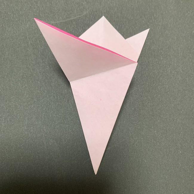 折り紙コースター(桜):折り方作り方 (16)