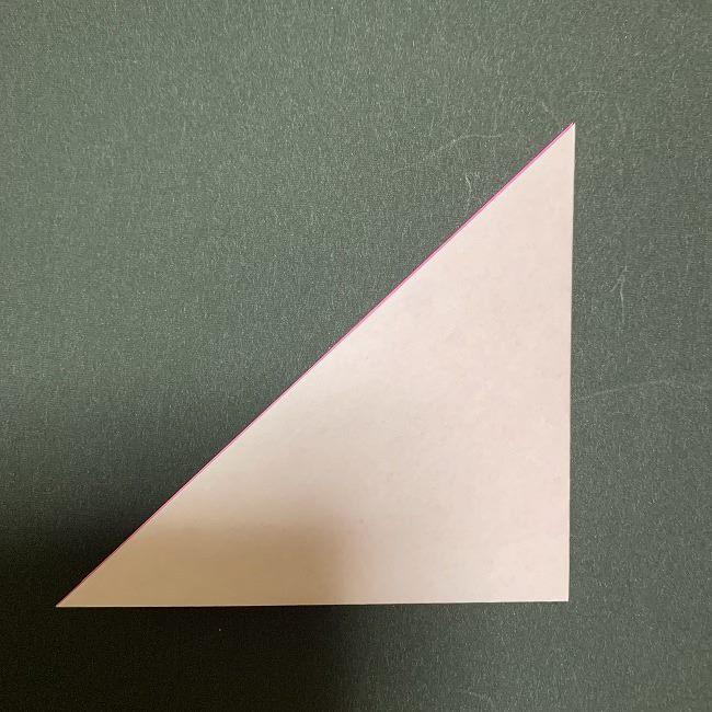 折り紙コースター(桜):折り方作り方 (2)