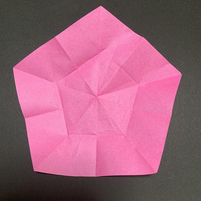 折り紙コースター(桜):折り方作り方 (20)