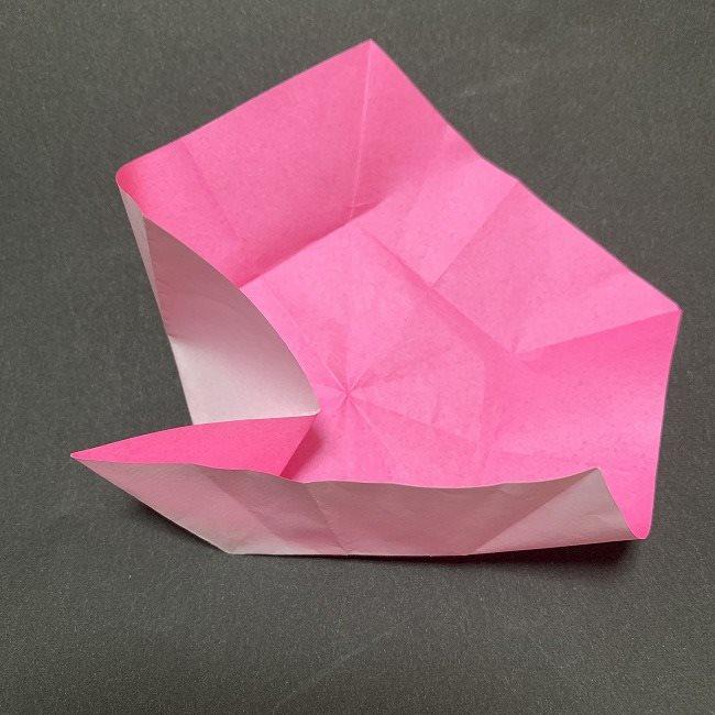 折り紙コースター(桜):折り方作り方 (22)