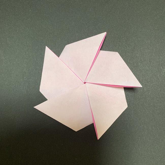 折り紙 コースター 桜