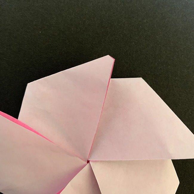 折り紙コースター(桜):折り方作り方 (24)