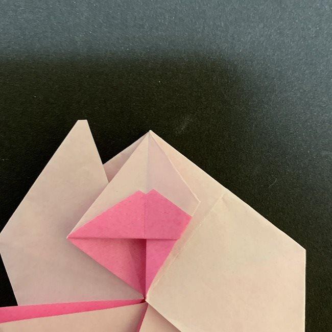折り紙コースター(桜):折り方作り方 (31追加)