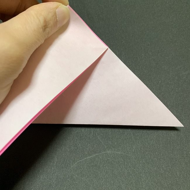 折り紙コースター(桜):折り方作り方 (6)