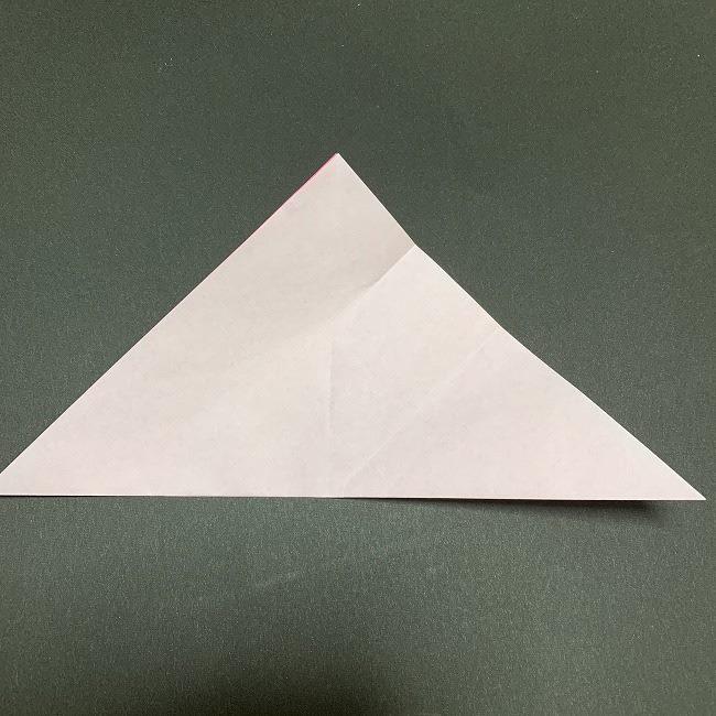 折り紙コースター(桜):折り方作り方 (7)