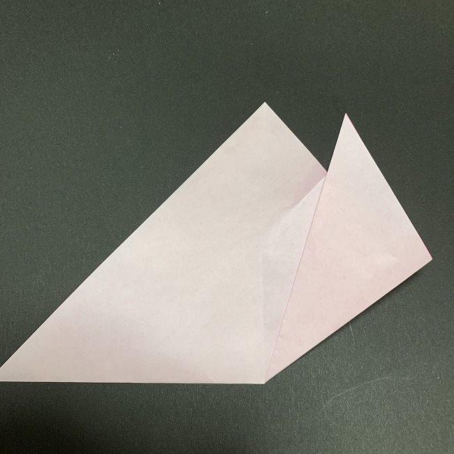 折り紙コースター(桜):折り方作り方 (8)
