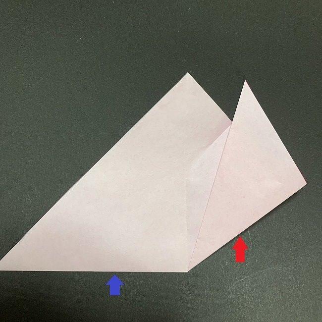折り紙コースター(桜):折り方作り方 (9)