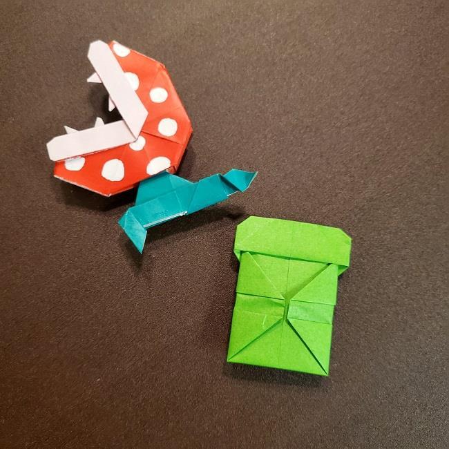 折り紙マリオの土管とパックンフラワー(1)