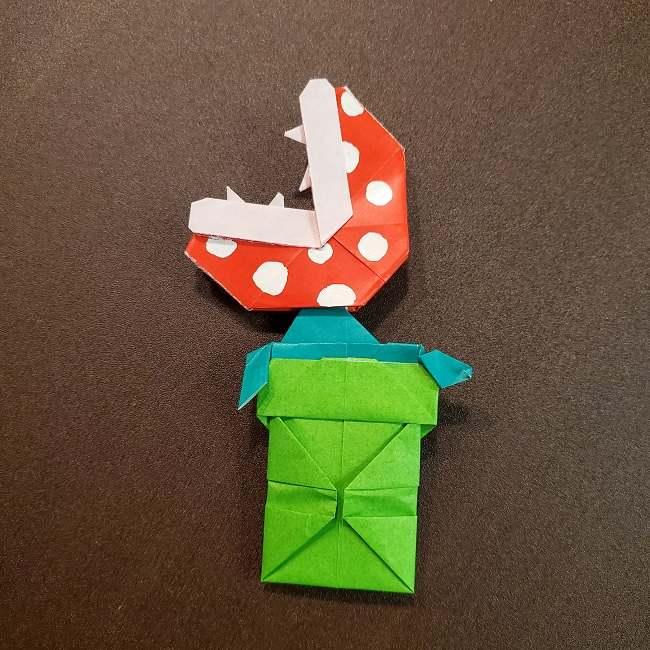 折り紙 マリオのフラワー(パックンフラワー)の折り方は簡単?作り方動画を見て実際につくったよ! (2)