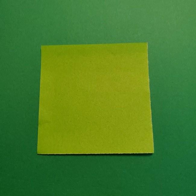 折り紙花リースの土台の作り方【葉っぱの壁飾り】 (1)