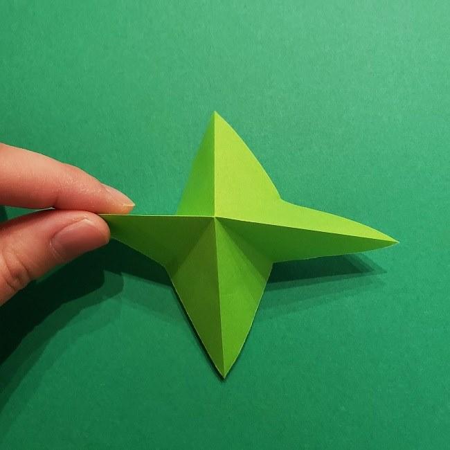 折り紙花リースの土台の作り方【葉っぱの壁飾り】 (10)
