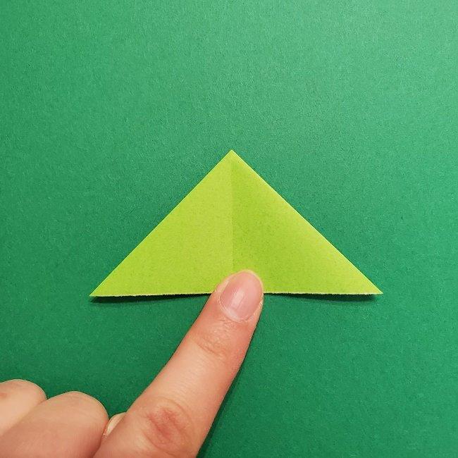 折り紙花リースの土台の作り方【葉っぱの壁飾り】 (13)