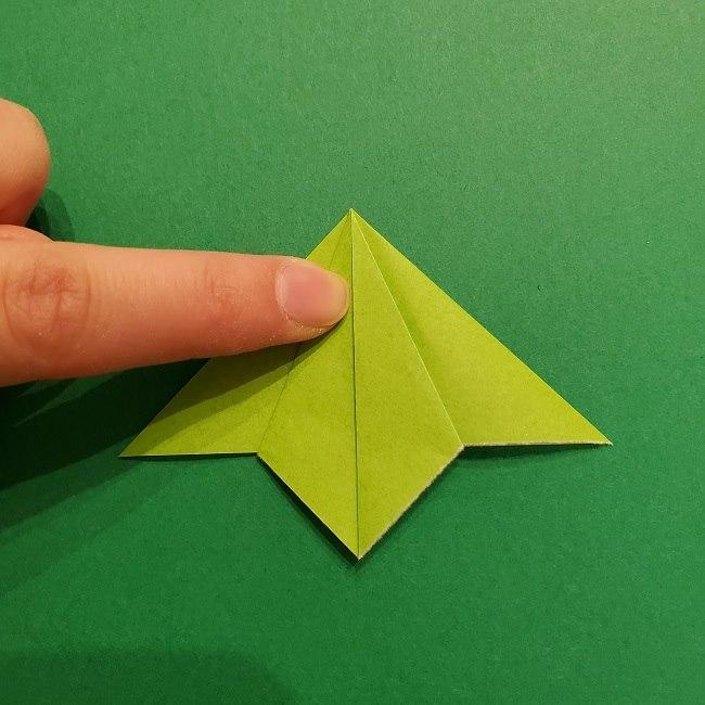 折り紙花リースの土台の作り方【葉っぱの壁飾り】 (14)