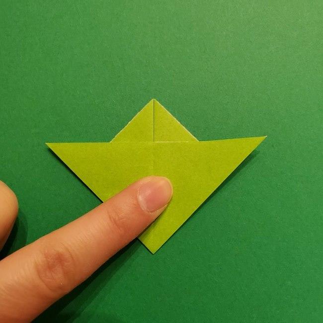 折り紙花リースの土台の作り方【葉っぱの壁飾り】 (15)