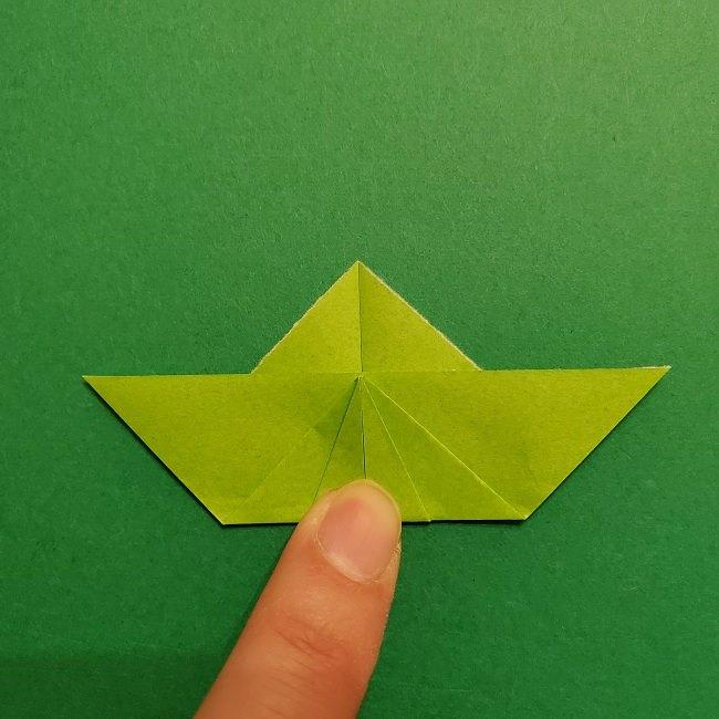 折り紙花リースの土台の作り方【葉っぱの壁飾り】 (16)
