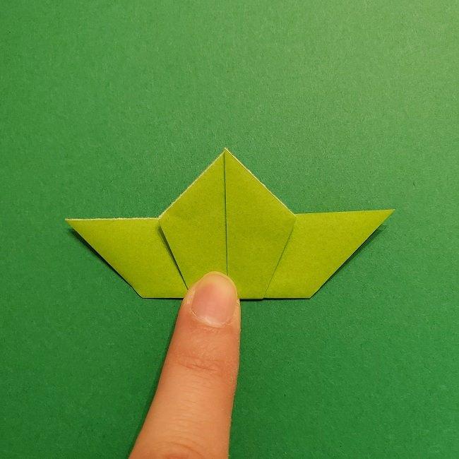 折り紙花リースの土台の作り方【葉っぱの壁飾り】 (17)