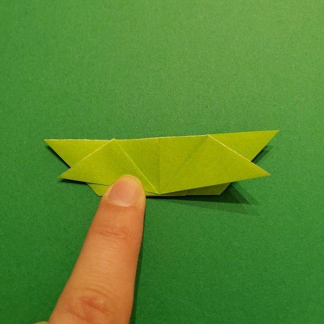 折り紙花リースの土台の作り方【葉っぱの壁飾り】 (18)