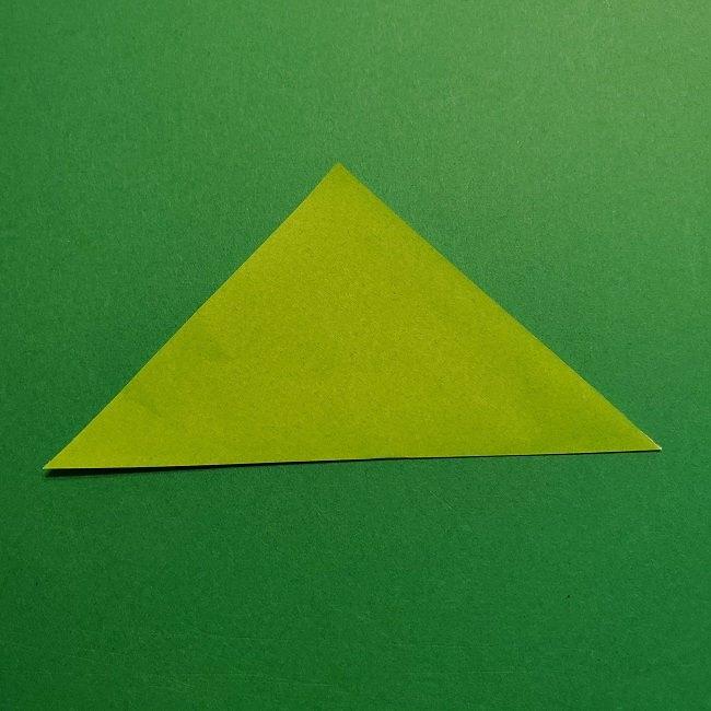 折り紙花リースの土台の作り方【葉っぱの壁飾り】 (2)