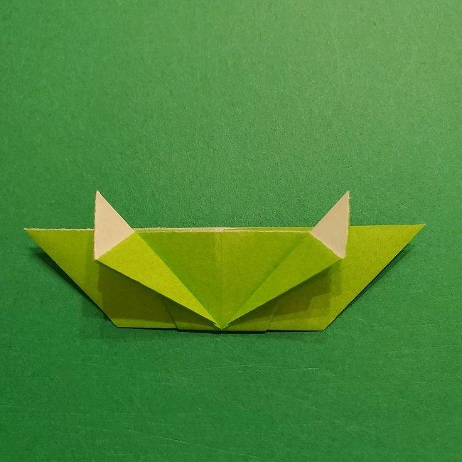 折り紙花リースの土台の作り方【葉っぱの壁飾り】 (23)