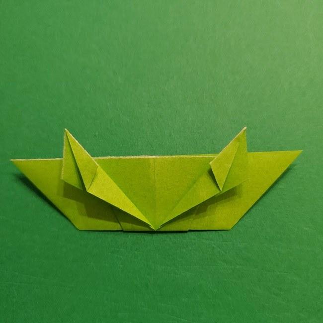 折り紙花リースの土台の作り方【葉っぱの壁飾り】 (24)