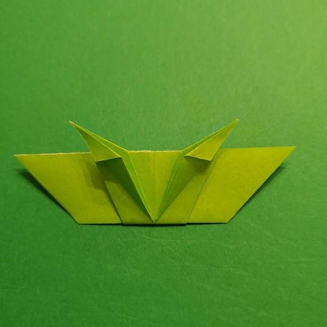 折り紙花リースの土台の作り方【葉っぱの壁飾り】 (27)