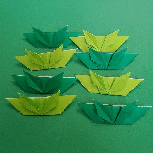 折り紙花リースの土台の作り方【葉っぱの壁飾り】 (29)