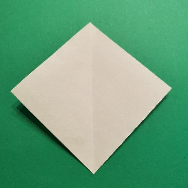 折り紙花リースの土台の作り方【葉っぱの壁飾り】 (3)