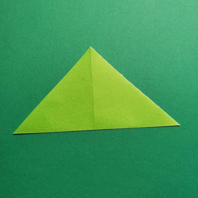 折り紙花リースの土台の作り方【葉っぱの壁飾り】 (4)