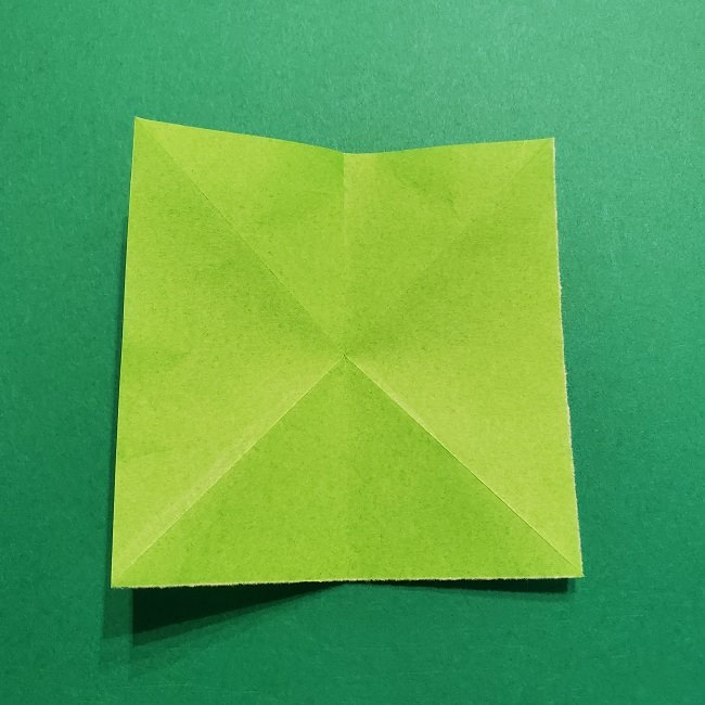 折り紙花リースの土台の作り方【葉っぱの壁飾り】 (7)