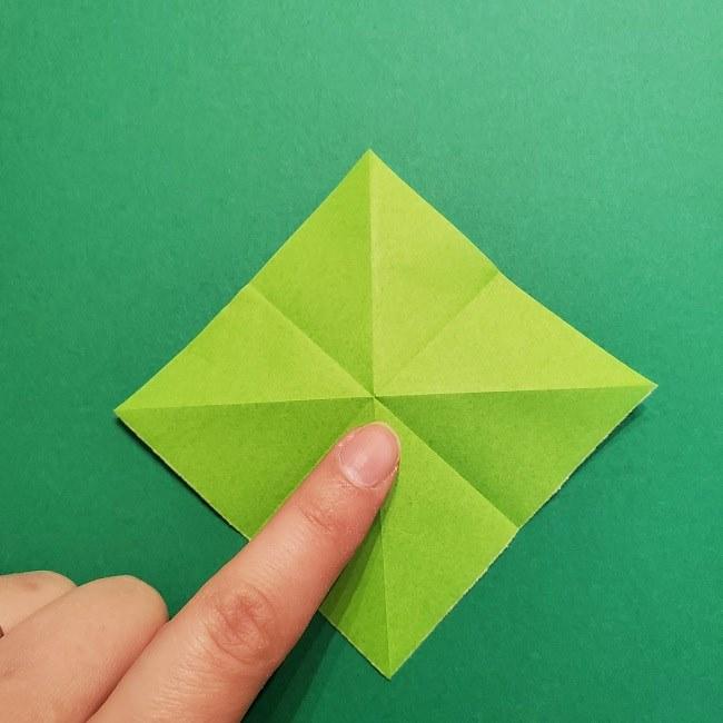 折り紙花リースの土台の作り方【葉っぱの壁飾り】 (9)