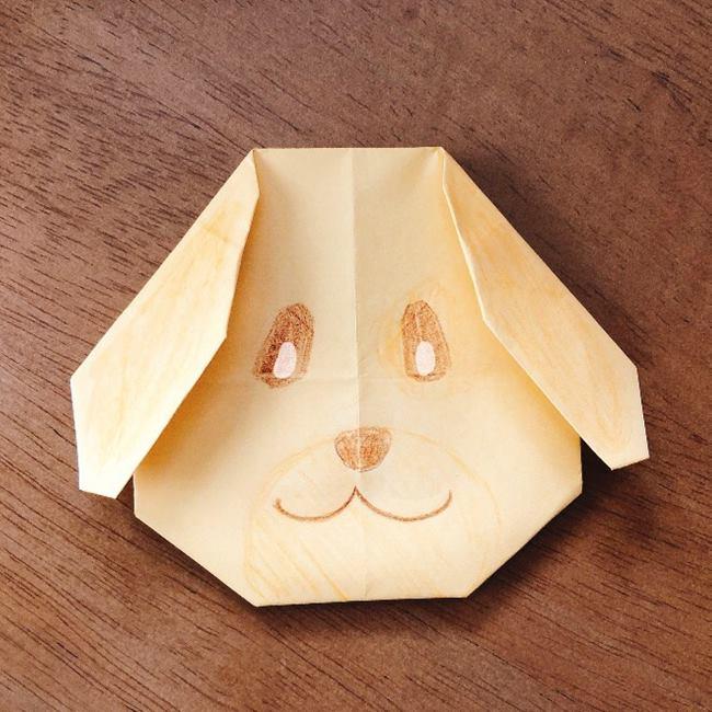 折り紙 あつ森キャラメルの折り方作り方★簡単かわいいどうぶつの森キャラクター