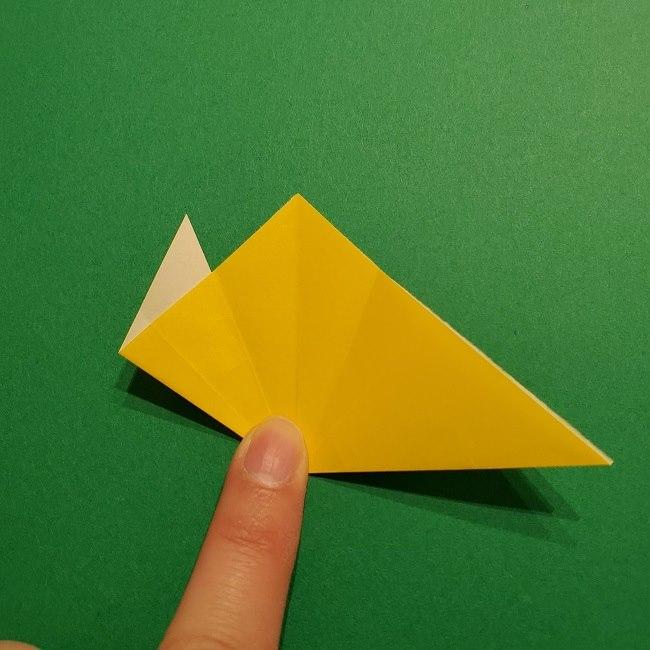 折り紙 チューリップのリースの作り方 (18)
