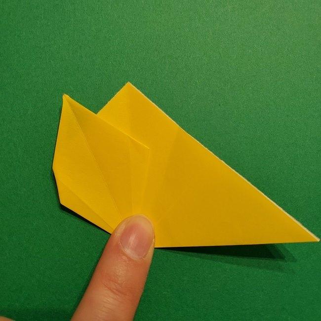 折り紙 チューリップのリースの作り方 (20)