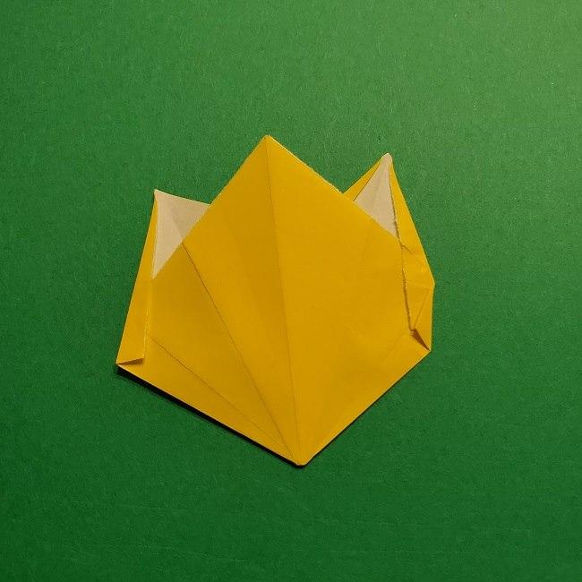 折り紙 チューリップのリースの作り方 (23)