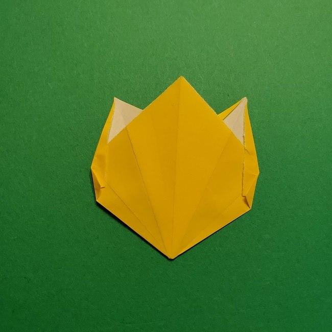 折り紙 チューリップのリースの作り方 (24)