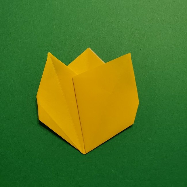 折り紙 チューリップのリースの作り方 (25)