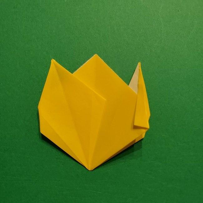 折り紙 チューリップのリースの作り方 (27)