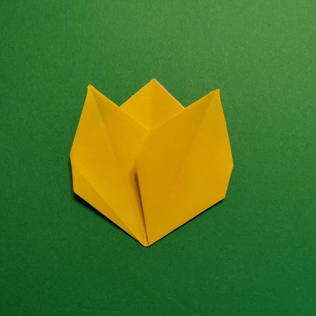 折り紙 チューリップのリースの作り方 (29)