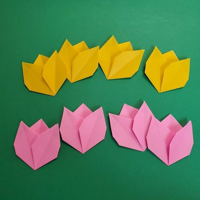 折り紙 チューリップのリースの作り方 (30)