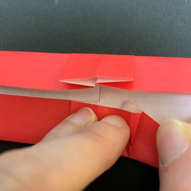 折り紙 チューリップの花束(平面)*作り方折り方補足 (3)