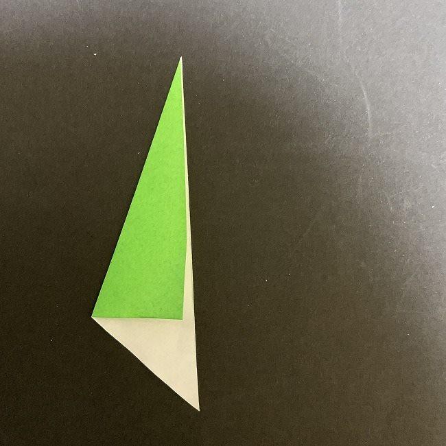 折り紙 チューリップの葉っぱ (1)