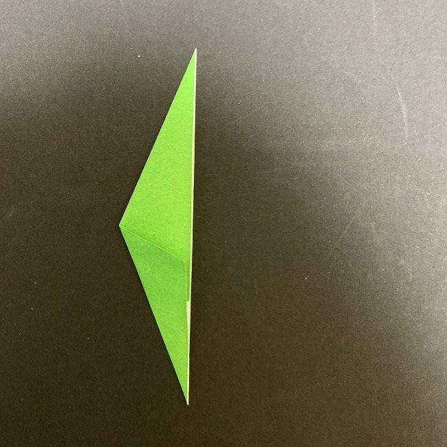 折り紙 チューリップの葉っぱ (2)