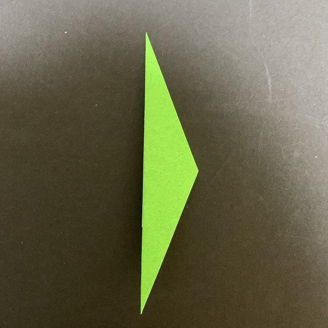 折り紙 チューリップの葉っぱ (3)