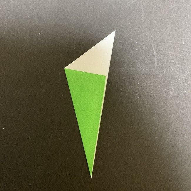 折り紙 チューリップの葉っぱ (4)