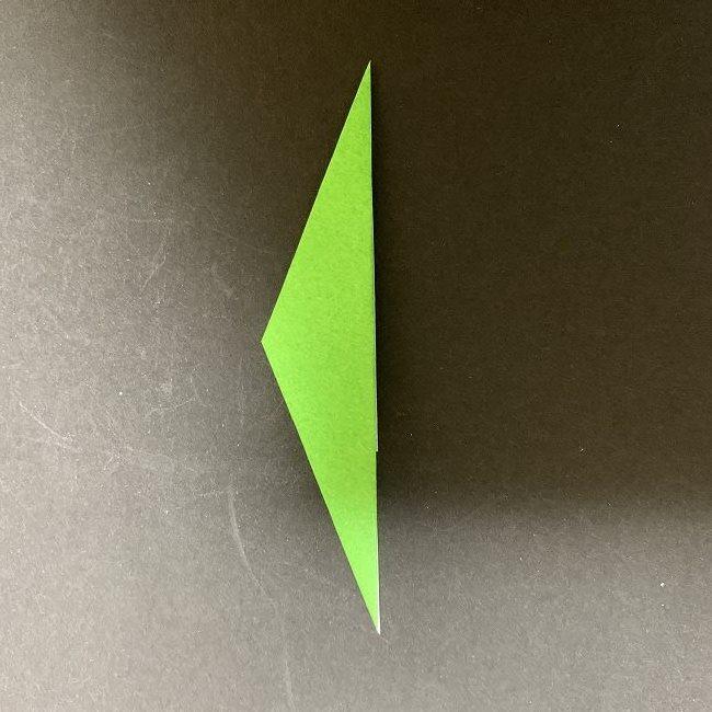 折り紙 チューリップの葉っぱ (6)