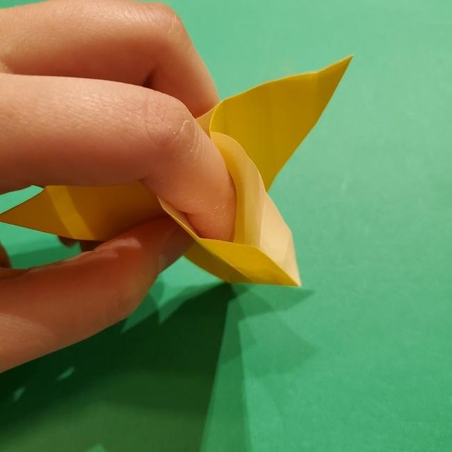 折り紙 ツツジの花の折り方作り方 (35)
